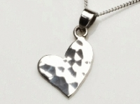 Hammered heart pendant
