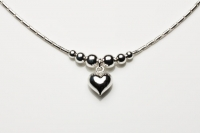 Heart and sphere necklace
