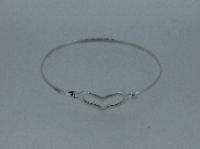 Heart gated bangle