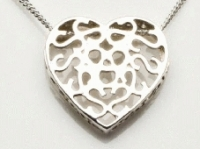 Heart slide filigree pendant