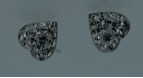 Heart stud with CZ