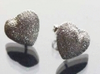 Sparkly heart stud earrings