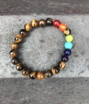 Chakra Tigers Eye Semi-Precious Rainbow Bracelet