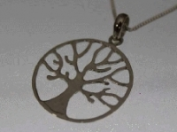 Tree in a circle pendant