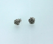 White rose stud earring