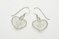 Wound wire heart earrings