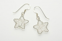 Wound wire star earrings