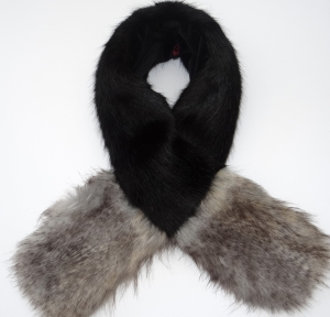 Black / Wolf Contrast Scarf