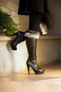 Chinchilla Black  Boot Topper
