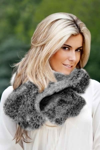 Frost Charcoal Ruffle Scarf