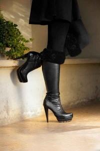 Prussian Black Boot Topper