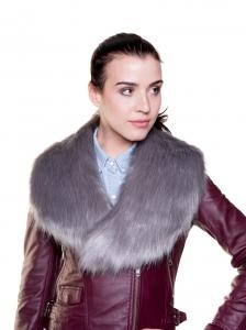 Silver Grey Large Collar