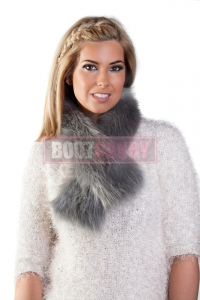 Silver Grey Tippet Scarf