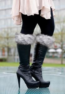 Snow Fox Black Boot Topper