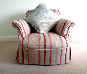 Snow Fox Black Cushion