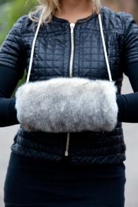 Snow Fox Black Muff