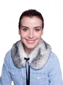 Snow Fox Black Small Collar