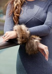 Tibet Brown Coat Cuff
