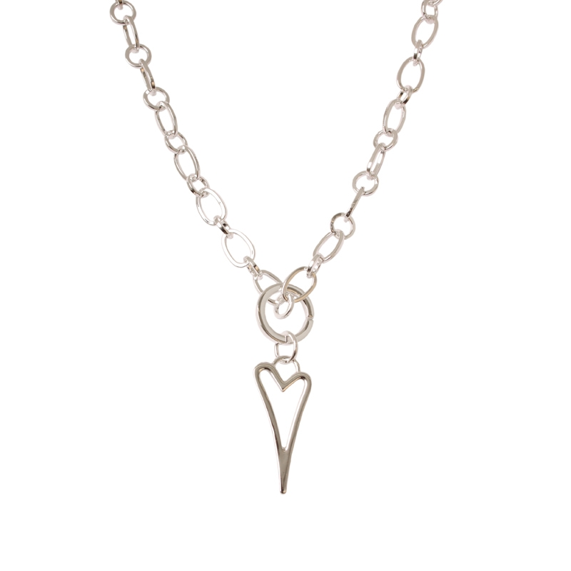 1800400-Miss Dee 1micron Silver Heart Frame Necklace | Necklaces ...
