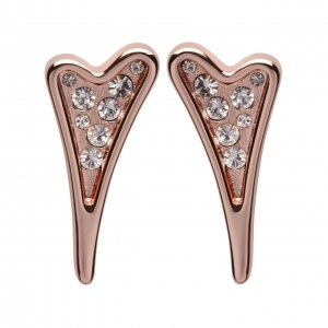 1800413 - Miss Dee 14carat Rose Gold Heart Stud Earrings