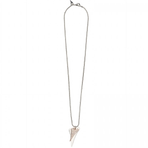 1800557- Miss Dee Long 70cm fashion necklace with 2 heart shaped drop pendants