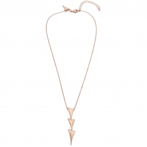 1800614- Miss Dee rose gold plated delicate necklace with a 3 heart drop pendant