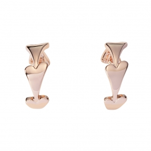 1800615 - Miss Dee Rose Gold Plated Plain Hearts Hooped Earring