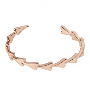 1800616- Miss Dee Rose Gold Plated heart shaped adjustable bangle