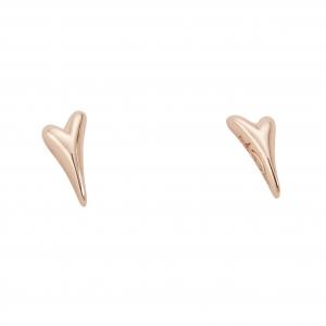 1800648-Miss Dee Rose Gold Bubble Heart Stud Earrings