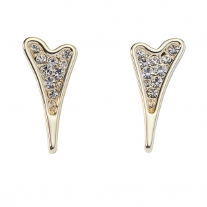 1800663- Miss Dee Gold Plated Heart Stud Earrings