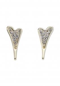1800663- Miss Dee Gold Plated Heart Stud Earrings