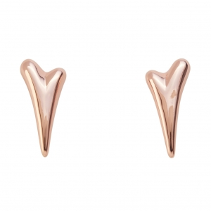 1800666- Miss Dee Plain Rose Gold heart shaped stud earrings