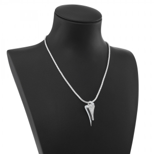 1800688-Miss Dee 1 Micron Silver plated necklace with 2 heart pendants