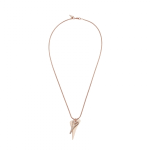 1800691- Miss Dee Long 70cm rose gold  fashion necklace with rose gold drop hearts