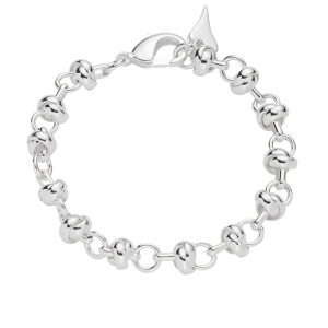 1800701- Miss Dee silver knotted links bracelet charm chain