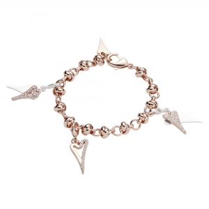 1800702- Miss Dee rose gold  knotted links bracelet charm chain