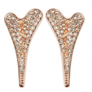 1800535 - Miss Dee 14 Crt rosegold plated stud earring with full diamante face