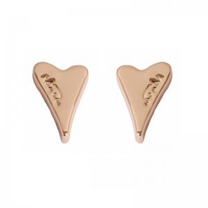 1800310 - Miss Dee 14carat Rose Gold Heart Stud Earrings