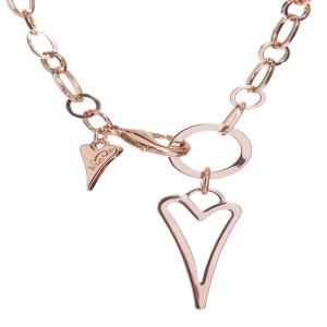 1800479-Miss Dee 14crt rosegold plated Hollow heart fashion necklace