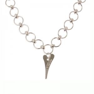 1635192-Miss Dee 1micron Silver STOCKHOLM Heart Circle Link Chain Bracelet