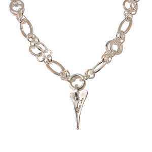 1800408-Miss Dee 1micron Silver STOCKHOLM Heart Multi Chain Necklace -