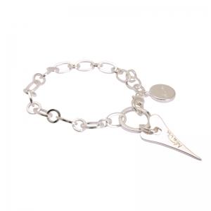 1616992-Miss Dee 1micron Silver STOCKHOLM Heart Rolo Chain Bracelet