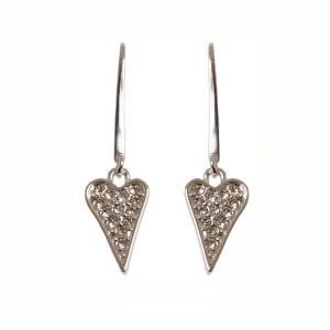 1800410-Miss Dee 1micron Silver ST PETERSBURG Heart Drop Earrings