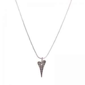 1719592-Miss Dee 1micron Silver RIO Heart Short Necklace