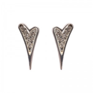 1705992 - Miss Dee 1micron Sterling Silver Heart Stud Earrings