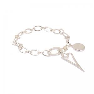 1652492-Miss Dee 1micron Sterling Silver Heart Frame Bracelet
