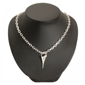 1800042-Miss Dee 1micron Sterling Silver STOCKHOLM Heart Necklace