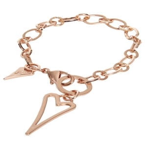 1800484-Miss Dee rosegold plated hollow heart fashion bracelet