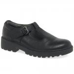Geox J Casey G O Bar School Shoes - Black