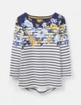 Joules - Harbour Print - Cream Stripe Floral